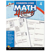 Carson-Dellosa Publishing Common Core 4 Today Workbook, Math, Grade 4, 96 pages