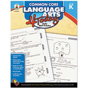 Carson-Dellosa Publishing Common Core 4 Today Workbook, Language Arts, Kindergarten, 96 pages