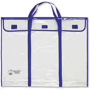"Carson-Dellosa® Bulletin Board Storage Bag, Blue/Clear, 30"" x 24"""