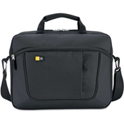 Case Logic AUA-316BK Case for 15.6 Laptop and Tablet, Black, 16-1/2 x 3-1/5 x 12-4/5, Polyester