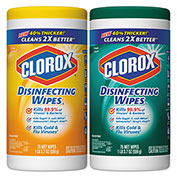 Clorox® Disinfecting Wipes Fresh/Citrus, 75 Wipes/Can 2/Case - CLO01599