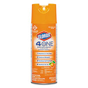Clorox® 4-in-One Disinfectant & Sanitizer Citrus, 14oz Aerosol 1/Case - CLO31043