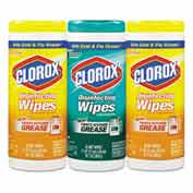 "Clorox Disinfecting Wipes, 7"" X 8"", Fresh Scent/Citrus Blend, 35/Canister, 3/Pack - COX30112"
