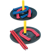 Champion Sports IHS1 Indoor/Outdoor Rubber Horseshoe Set