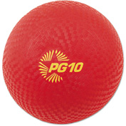 "Champion Sports PG10 Playground Ball, 10"", Red"