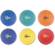 Champion Sports PGSET Playground Ball Set, Nylon, Assorted Colors, 6/Set