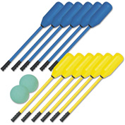 Champion Sports PXSET Soft Polo Set, Rhino Skin, Blue and Yellow, 12 Sticks/2 Balls
