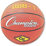 Champion Sports RBB1 Rubber Sports Ball, For Basketball, No. 7, Official Size, Orange