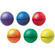 "Champion Sports RS7SET Rhino Skin Ball Sets, 7"", Blue, Green, Orange, Purple, Red, Yellow, 6/Set"