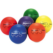 Champion Sports RXD6SET Dodge Ball Set, Rhino Skin, Assorted Colors, 6 Balls/Set