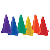 Champion Sports TC9SET Indoor/Outdoor Flexible Cone Set, Vinyl, Assorted Colors, 6/Set