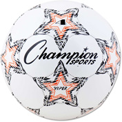 Champion Sports VIPER4 VIPER Soccer Ball, Size 4, White