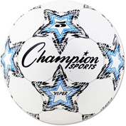 Champion Sports VIPER5 VIPER Soccer Ball, Size 5, White