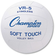 Champion Sports VR4 Rubber Sports Ball, For Volleyball, Official Size, White