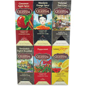 Celestial Seasonings Caffeine-Free Herbal Tea, Six Assorted Flavors, Single Cup Bags, 150/Carton