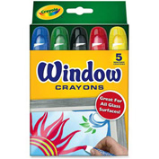 Crayola 529765 Washable Window Crayons, 5/Set