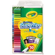 Crayola® Washable Super Tips Markers with Silly Scents, Assorted, 50/Set