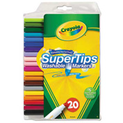 Crayola® Washable Super Tips Markers with Silly Scents, Assorted, 20/Set