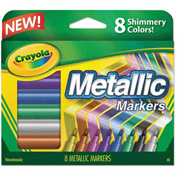 Crayola® Metallic Markers, Assorted, 8/Set