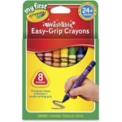 Crayola 811308 My First Washable Triangular Crayons, Wax, 8/Set