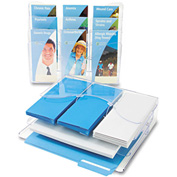 "deflect-o 47631 Three-Tier Document Organizer w/Dividers, 13-3/8""W x 3-1/2""D x 11-1/2""H, Clear"