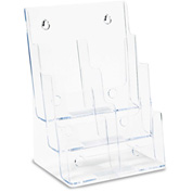 "deflect-o 77401 Multi Compartment DocuHolder, 6 Compartments, 9""W x 7-1/2""D x 13-3/4""H, Clear"