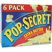 Pop Secret Premium Microwave Popcorn, Extra Butter, 3.5 Oz, 6/Box