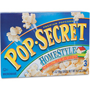 Pop Secret Premium Microwave Popcorn, Homestyle, 3.5 Oz, 3/Box