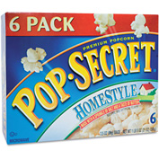 Pop Secret Premium Microwave Popcorn, Homestyle, 3.5 Oz, 6/Box