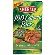 Emerald 100 Calorie Pack Almonds, All Natural, 0.63 Oz, 7/Box