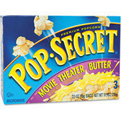 Pop Secret Microwave Popcorn, Movie Theater Butter, 3.5 Oz, 3/Box