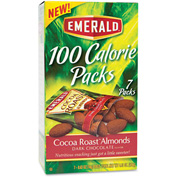 Emerald 100 Calorie Pack Almonds, Dark Chocolate Cocoa Roast, 0.63 Oz, 7/Box