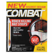 Combat® Roach Bait Insecticide Strips, 0.68 oz., 10/Pack, 12 Pack/Case - DIA00974
