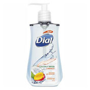 Dial® Antimicrobial Liquid Soap, 7.5 oz. Pump Bottle, Coconut Water & Mango - 17000121581