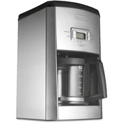 Delonghi DC514T 14-Cup Drip Coffee Maker, Stainless Steel, Black Silver