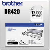 Brother® DR420 Drum Unit, 12,000 Page-Yield, Black, OEM