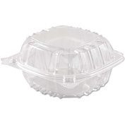 """Hinged Lid Plastic Containers 6"""" x 5-13/16"""" x 3"""" 1 Compartment - 500 Pack"""