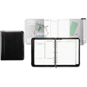 Day-Timer® Aristo Bonded Leather Starter Set, 8 1/2 x 11, Black