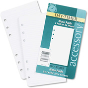 Day-Timer® Lined Note Pads for Organizer, 3 3/4 x 6 3/4