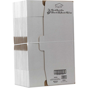 "Duck® Self-Locking Shipping Boxes, 13""L x 9""W x 4""H, White, 25/PACK"