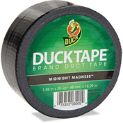 "Duck® Colored Duct Tape, 1.88"" x 20yds, 3"" Core, Black"