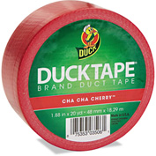 "Duck® Colored Duct Tape, 1.88"" x 20yds, 3"" Core, Red"