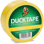 "Duck® Colored Duct Tape, 1.88"" x 20yds, 3"" Core, Yellow"