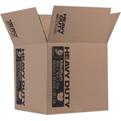 """Duck® Heavy-Duty Moving/Storage Boxes, 16""""L x 16""""W x 15""""H, Brown"""