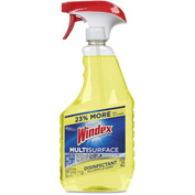Windex® Antibacterial Multi-Surface Cleaner Lemon, 32oz Trigger Bottle 1/Case - DVOCB701380