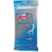 Windex® Electronics Cleaner, 25 Wipes/Pack 12/Case - DVOCB702271CT