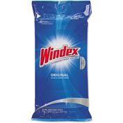 Windex® Glass & Surface Wet Wipes, 28 Wipes/Pack 12/Case - DVOCB702325CT