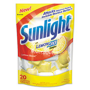 Sunlight® Auto Dish Power Pacs Lemon, 20 1.5oz Packets/Bag 6/Case - DVOCB711021CT