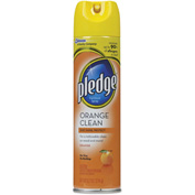 Pledge® Furniture Polish Orange Clean, 9.7oz Aerosol 1/Case - DVOCB723732