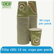 Eco-Products® Evolution World 24% PCF Hot Drink Cups, Sea Green, 12 oz., 50/Pack